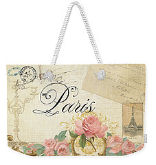 Parchment Paris - Timeless Romance Weekender Tote Bag by Audrey Jeanne Roberts
