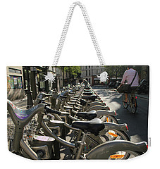 Paris By Bike Weekender Tote Bag by Yoel Koskas