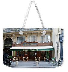 Weekender Tote Bag featuring the photograph Paris Cafe Bistro - Galerie Vivienne - Paris Cafes Bistro Restaurant-paris Cafe Galerie Vivienne by Kathy Fornal