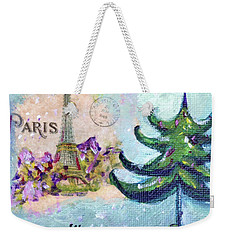 Paris Christmas Weekender Tote Bag