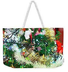 Paris Christmas Tree Weekender Tote Bag