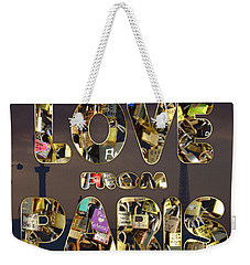 Paris City Of Love And Lovelocks Weekender Tote Bag by Georgeta Blanaru