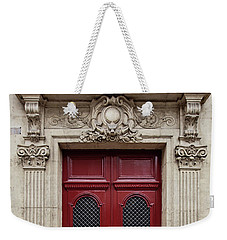 Weekender Tote Bag featuring the photograph Paris Doors No. 17 - Paris, France by Melanie Alexandra Price