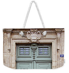 Weekender Tote Bag featuring the photograph Paris Doors No. 29 - Paris, France by Melanie Alexandra Price