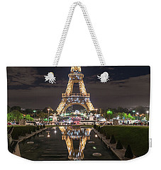 Paris Eiffel Tower Dazzling At Night Weekender Tote Bag