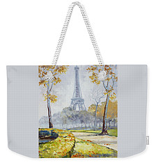 Paris Eiffel Tower From Trocadero Park Weekender Tote Bag by Irek Szelag