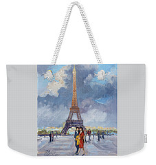 Paris Eiffel Tower Weekender Tote Bag by Irek Szelag