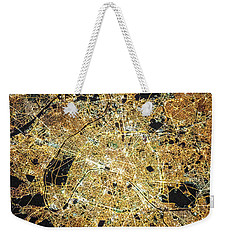 Weekender Tote Bag featuring the photograph Paris From Space by Delphimages Photo Creations