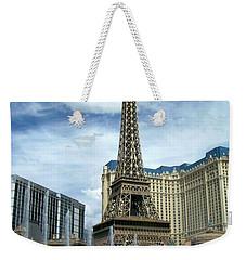 Paris Hotel And Bellagio Fountains Weekender Tote Bag
