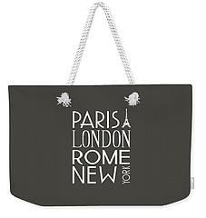 Paris, London, Rome And New York Pillow Weekender Tote Bag