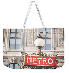 Paris Metro Sign Architecture Weekender Tote Bag by Ivy Ho