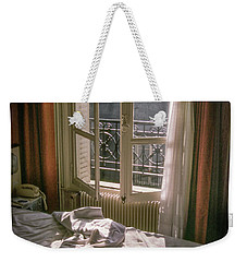 Paris Morning Weekender Tote Bag
