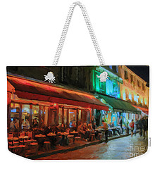 Weekender Tote Bag featuring the painting Paris Night by Chris Armytage
