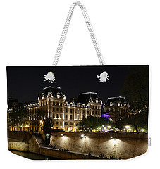 Weekender Tote Bag featuring the photograph Paris Police Headquarters by Andrew Fare