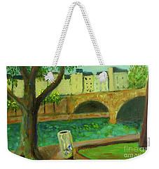 Weekender Tote Bag featuring the painting Paris Rubbish by Paul McKey