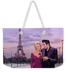 Paris Sunset Weekender Tote Bag