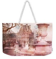 Paris Tuileries Park Garden - Jardin Des Tuileries Garden - Paris Tuileries Louvre Garden Sculpture Weekender Tote Bag by Kathy Fornal
