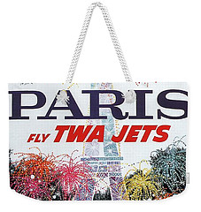 Paris - Twa Jets - Trans World Airlines - Eiffel Tower - Retro Travel Poster - Vintage Poster Weekender Tote Bag