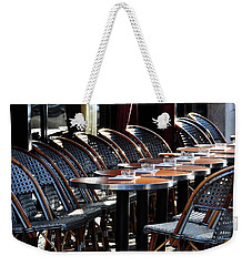 Parisian Cafe Terrace Weekender Tote Bag