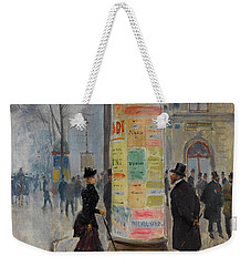 Weekender Tote Bag featuring the photograph Parisian Street Scene by John Stephens
