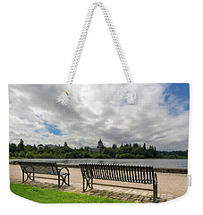 Park Bench Along Capitol Lake In Olympia Washington Weekender Tote Bag