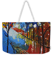 Park Bench Weekender Tote Bag by Gary Smith