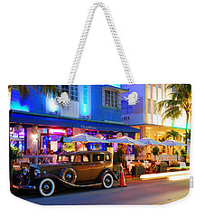 Weekender Tote Bag featuring the photograph Park Central Miami Beach by James Kirkikis