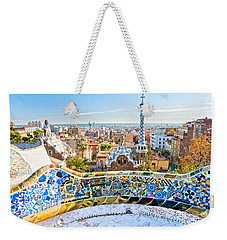 Weekender Tote Bag featuring the photograph Park Guell Barcelona by Luciano Mortula