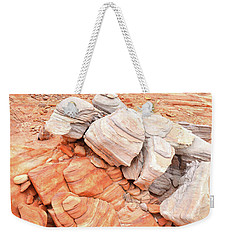 Weekender Tote Bag featuring the photograph Park Road Sandstone In Valley Of Fire by Ray Mathis