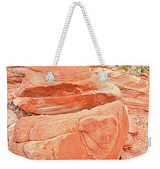 Weekender Tote Bag featuring the photograph Park Road View In Valley Of Fire by Ray Mathis
