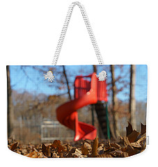 Weekender Tote Bag featuring the pyrography Park Slide by Greg Collins