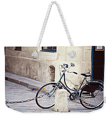 Parked In Paris - Bicycle Photography Weekender Tote Bag by Melanie Alexandra Price