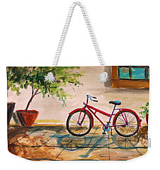 Parked In The Courtyard Weekender Tote Bag