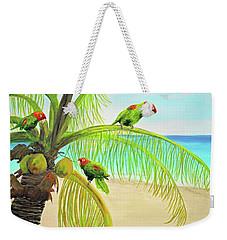 Parrot Beach Weekender Tote Bag