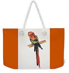 Parrot Weekender Tote Bag by Christine Lathrop