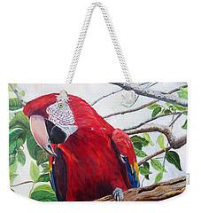Parrot Portrait Weekender Tote Bag