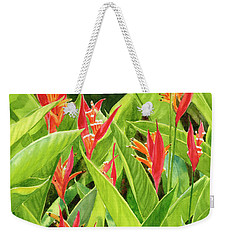 Parrots Flower With Background Weekender Tote Bag