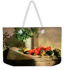 Weekender Tote Bag featuring the photograph Parsley And Peppers by Diana Angstadt