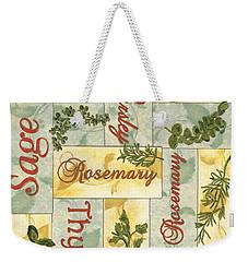 Parsley Collage Weekender Tote Bag by Debbie DeWitt