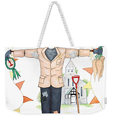 Parson Scarecrow Weekender Tote Bag by Sandra Moore
