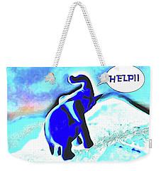 Weekender Tote Bag featuring the digital art Party Orphan by Aliceann Carlton