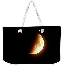 Partial Moon Weekender Tote Bag