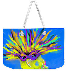 Weekender Tote Bag featuring the digital art Party Animal by Jean Pacheco Ravinski