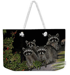 Party Of Five On The Roof Top Weekender Tote Bag by Nina Prommer