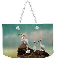Party On The Rocks Weekender Tote Bag by Lana Trussell
