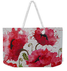Party Poppies Weekender Tote Bag