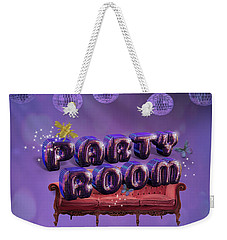 Party Room Weekender Tote Bag by La Reve Design