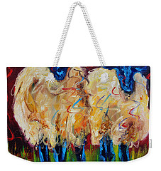 Party Sheep Weekender Tote Bag by Diane Whitehead