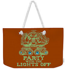 Weekender Tote Bag featuring the mixed media Party With The Lights Off by TortureLord Art
