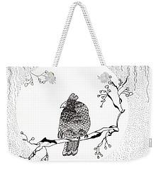 Party Time In Birdville Weekender Tote Bag by Jan Steinle